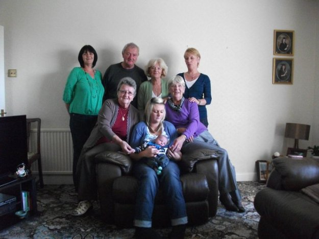My nanna (furthest left) and her great-great grandson (in arms!) Five generations.